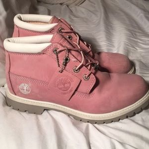 Pink Authentic Timberland Boots